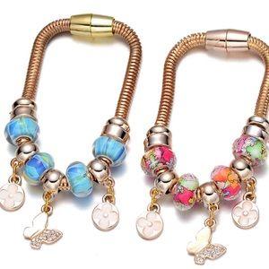 Clovers 🍀& 🦋 magnetic charm bracelets.